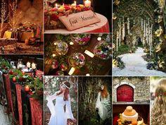 Mariage thème médiéval rouge