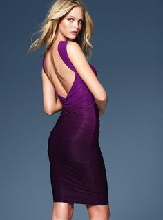 open back ombre dress