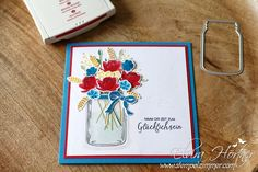 Glasklare Grüße - Sommerblumen - Stampin Up