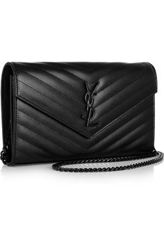 Saint Laurent | Monogramme textured-leather shoulder bag | some serious competition to the Chanel wallet on chain