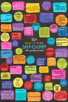 Self Love Quote Discover SELF-ESTEEM: School Counseling Game & Lesson 50 Ways to Build Self-Esteem! Ways to Build Self-Esteem for kids and teens. Poster school counseling lesson and fortune teller activity. Self Esteem Activities, Counseling Activities, Therapy Activities, Counseling Posters, Health Activities, Coping Skills, Social Skills, Life Skills, School Social Work