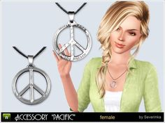 Accessory Pacific for women. Sign of the Pacific - a symbol of peace, will be a great decoration for your Sims.  Found in TSR Category 'Sims 3 Necklaces'