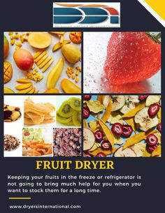 Making your own Dehydrated Food with the help of fruit dryer has a great deal of advantages. In the event that you utilize your food dehydrator consistently, it can offer you reserve funds, medical advantages and a greener way of life. In case you're considering purchasing a food dehydrator, you ought to know about the advantages and nuts and bolts of making your own got dried out food. All Fruits, Fruits And Vegetables, Simply Recipes, New Recipes, Grain Dryer, Fruit Benefits, Dried Mangoes, Dehydrated Food, Dehydrator Recipes