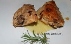 INGREDIENTI per 2 persone: 4 pezzi di sovracosce di pollo mezzo bicchiere di vino bianco succo di un limone un rametto di...