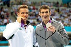after the 200 m butterfly medal ceremony