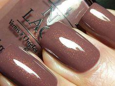 Pretty Painted Fingers & Toes Nail Polish| Serafini Amelia| Chocolate and Glitter Nails