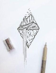 Wasserfall Natur Dotwork Tattoo Idee - # Check more at sketch. - Wasserfall Natur Dotwork Tattoo Idee – # Check more at sketch. Natur Tattoos, Kunst Tattoos, Body Art Tattoos, Sleeve Tattoos, Tattoo Art, Geometric Sleeve Tattoo, Geometric Tattoos, Trendy Tattoos, Cool Tattoos