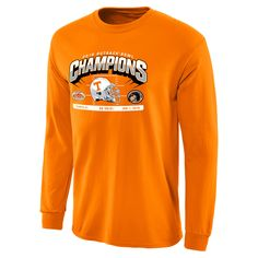 26347c25f90 Men s Tennessee Orange Tennessee Volunteers 2016 Outback Bowl Champions  Hash Mark Long Sleeve T-Shirt