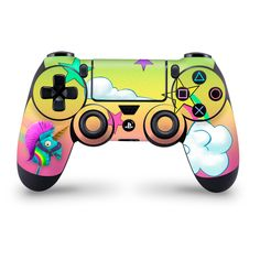 Rainbow Smash Playstation 4 Pro/Slim Controller Skin,Fortnite Drink Fan Art, High quality vinyl to customize and protect your controller
