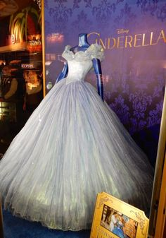 Cinderella film ball gown designed by Sandy Powell. This doesn't look as blue in person.