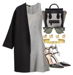 """""""Style  #9451"""" by vany-alvarado ❤ liked on Polyvore featuring CÉLINE, Calvin Klein Collection, Gianvito Rossi, H&M, Ray-Ban, ZoÃ« Chicco and Maison Margiela"""