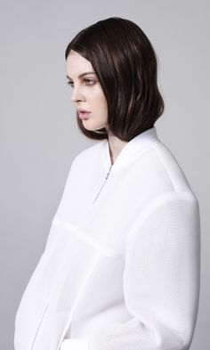 Mesh sport-luxe bomber from Claudia Ligari's SS13
