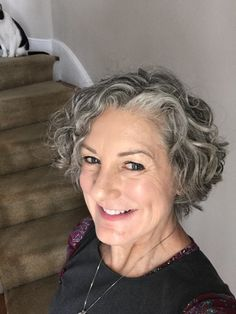 chin length gray hairstyles 2019 chin length gray hairstyles 2019 - Yahoo Image Search Results Sure, Short Permed Hair, Grey Curly Hair, Short Curly Haircuts, Short Grey Hair, Curly Hair Cuts, Wavy Hair, Curly Hair Styles, Hairstyles Over 50, Permed Hairstyles