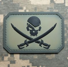 PVC Pirate Skull Swords 3D PVC Flag US USA Army Military ACU Velcro Patch | eBay
