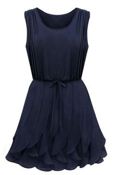 Shop Navy Sleeveless Ruffles Pleated Chiffon Dress online. SheIn offers Navy Sleeveless Ruffles Pleated Chiffon Dress & more to fit your fashionable needs.