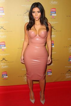 Kim Kardashian loved this sexy latex look so much she rocked it twice! For more ideas click the picture or visit www.sofeminine.co.uk