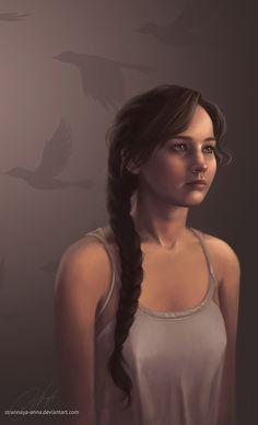 Katniss Everdeen. Fan Art  by strannaya-anna. Beautiful!