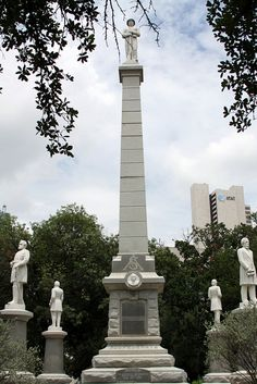 The Confederate War Memorial in Dallas, Texas, is a monument commemorating those… Confederate Statues, Confederate Monuments, Confederate States Of America, American Civil War, American History, Southern Heritage, Civil War Photos, Historical Monuments, Dallas Texas