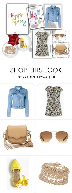 """""""spring outfit set"""" by yelena-lorich ❤ liked on Polyvore featuring Komar, Acne Studios, Rebecca Minkoff, Stella & Dot, J.Crew and ALDO"""