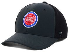 "Detroit Pistons NBA 47' Brand ""Winship Contender"" Stretch Fitted Hat New #47Brand #DetroitPistons"
