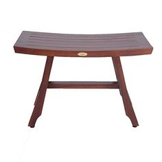 Solid Teak 28 Teak Shower Bench Satori Asia Style Extended Length With Adjustable Foot Pads *** Click the VISIT button to enter the Amazon website