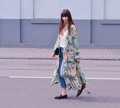 Zara Kimono Outfit Loafers straight denim PULL&BEAR