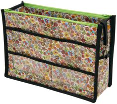 Purse Organizer made with London Calling fabric, designed by Better Off Thread. FREE pattern available from Robert Kaufman Fabrics.