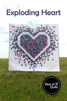 Chevron Quilt Pattern, Heart Quilt Pattern, Heart Patterns, Pattern Paper, Chevron Quilt Tutorials, Paper Patterns, Modern Quilt Patterns, Quilt Patterns Free, Sewing Patterns