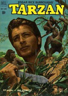 A cover gallery for the comic book Tarzan Comic Book Covers, Comic Books, Tarzan Of The Apes, African Jungle, Jungle Jim's, Real Movies, Pulp Fiction Art, Nostalgia, Lone Ranger