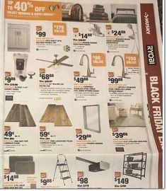 Home Depot Black Friday 2019 Ads and Deals Browse the Home Depot Black Friday 2019 ad scan and the complete product by product sales listing. Black Friday News, Black Friday 2019, Home Depot Coupons, Printable Coupons, Faucet, Ads, Water Tap