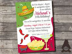 Mexican Fiesta Invitation, Margarita Party, Mexican Dinner Party, Cinco de Mayo Party, Printable Invitation for Birthday Party