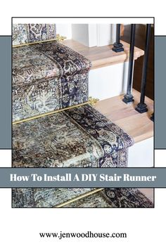 How to install a stair runner - step by step tutorial with VIDEO! Cool Diy Projects, Home Projects, Diy Stair, Stairs, Woodworking, Tutorials, The Originals, Building, Awesome