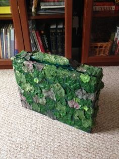 Peter Pan's suitcase-for the ending scene where the Fairy Tale chorus storms Duloc. They all have luggage-we are making their luggage match their characters.