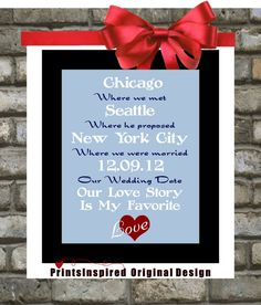 #Unique #Custom #Locations Print: #Wedding #Where We #Met He #Proposed #Married Birth of Child Quote Personalized Mother day Gift Family #Subway #Art $20.99
