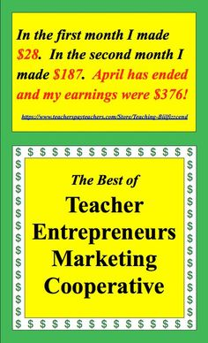 Join The Best of Teacher Entrepreneurs Marketing Cooperative and let the power of the group help you market your TpT products at www.thebestofteac....