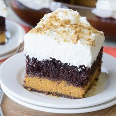 This Chocolate Pumpkin Magic Cake is three layers of deliciousness. But how you get those three layers is magical!