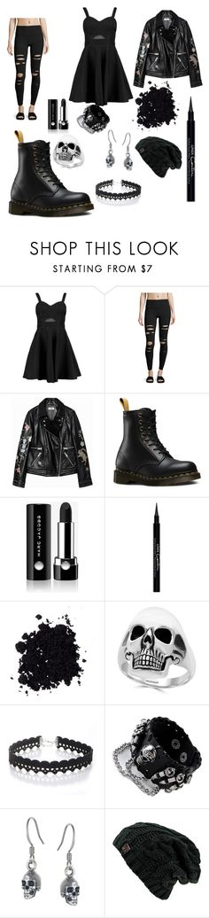 """""""The Edgemaster of ultimate edginess"""" by nightfury-100 ❤ liked on Polyvore featuring Boohoo, Alo Yoga, Dr. Martens, Marc Jacobs, Givenchy, Effy Jewelry, WithChic and Black Pearl"""