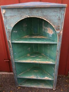 Antique French Country corner hutch