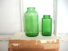 green bottles.