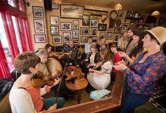 Irish traditional music sessions are part of the Irish pub culture in Ireland and around the world. Is there an Irish music session near where you live? Ireland Pubs, Best Of Ireland, Galway Ireland, Bodhran Drum, County Clare, Irish Traditions, Irish Dance, Dream Vacations, Top Vacations