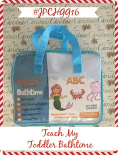 The Teach My Toddler Bathtime ABC's Learning Set comes with foam alphabet letters that float, water squirtees and also a coordinated bath book.