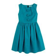 Girls' on-the-button dress