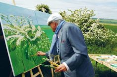 "David Hockney Painting ""Woldgate Before Kilham"" 2007 Jean-Pierre Gonçalves de Lima"