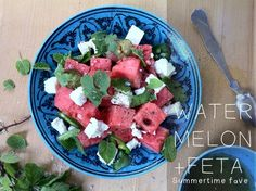 Mangiona with Caitlin Levin #4 Mouth-Watermeloning feta salad, #Feta, #Salad, #Watermelon