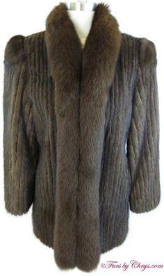 Mahogany Mink and Fox Jacket Mink Coats, Mink Fur, Fur Coat, Mink Jacket, Fox Fur, Fur Trim, Stay Warm, Tuxedo, Hooks