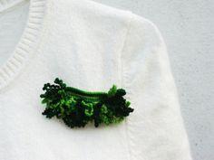 spilla uncinetto cottone toni di verde multicolor di 0lemos0, $14.00
