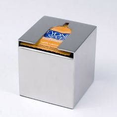 Condoms: Stored Sleek and sophisticated condom dispenser.  Did anyone else immediately think of 'After-Eights'?