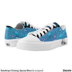 Raindrops Closeup, Spacey Blues Low-Top Sneakers - 20% Off with code SUMMERTIME60 from ZoeSPEAK
