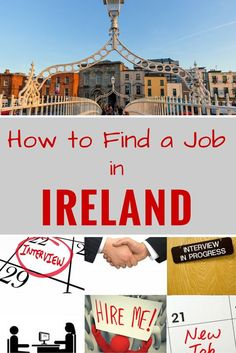 Want to work abroad? Find out how to find a job in Ireland.