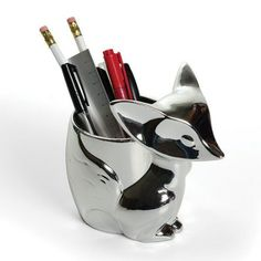 Silver Fox Desk Organizer